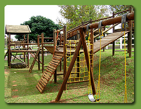 Huge jungle gym for kids to enjoy at Summerveld Country Lodge, Summerveld, Durban